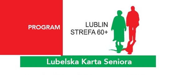 Logo programu Lublin Strefa 60+ honorowanego przez pralnię Niagara