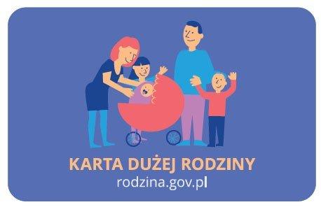 Logo programu Karta Dużej Rodziny honorowanego przez pralnię Niagara